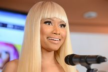 WEST HOLLYWOOD, CA - MARCH 01:  Singer Nicki Minaj attends her Kmart collection private event at Fig & Olive Melrose Place on March 1, 2013 in West Hollywood, California.  (Photo by Jason Merritt/Getty Images)