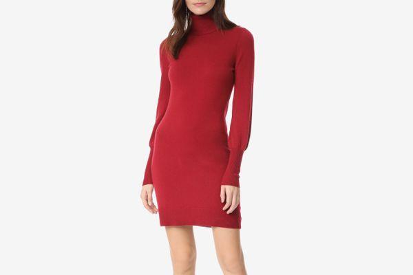 Bop Basics Cashmere Blouson Sleeve Turtleneck Dress