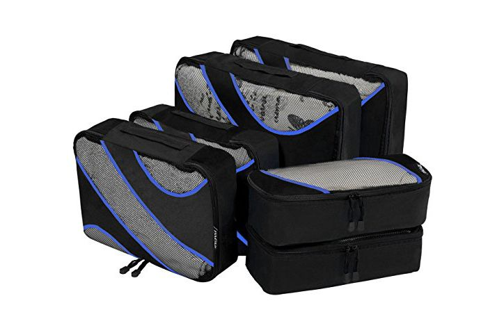 6 Set Packing Cubes, 3 Various Sizes Travel Luggage Packing Organizers