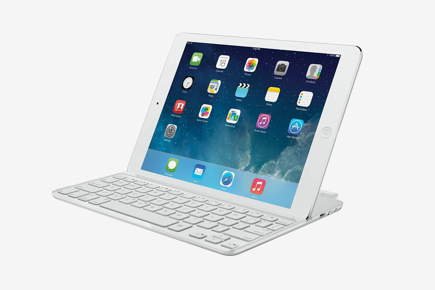 Logitech Ultrathin Keyboard Cover for iPad Air, White