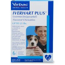 Iverhart Plus Chewables (Up to 25 lbs)