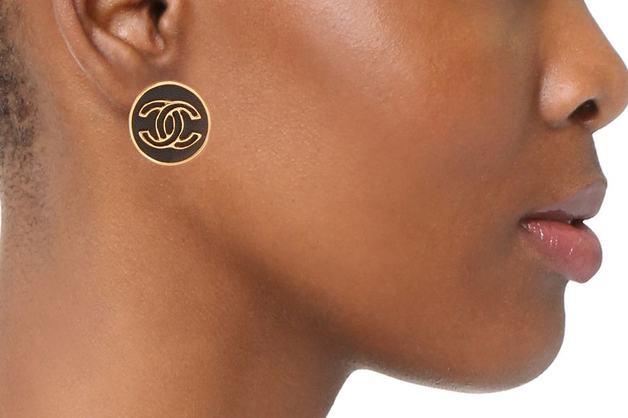 Chanel Button Clip On Earrings