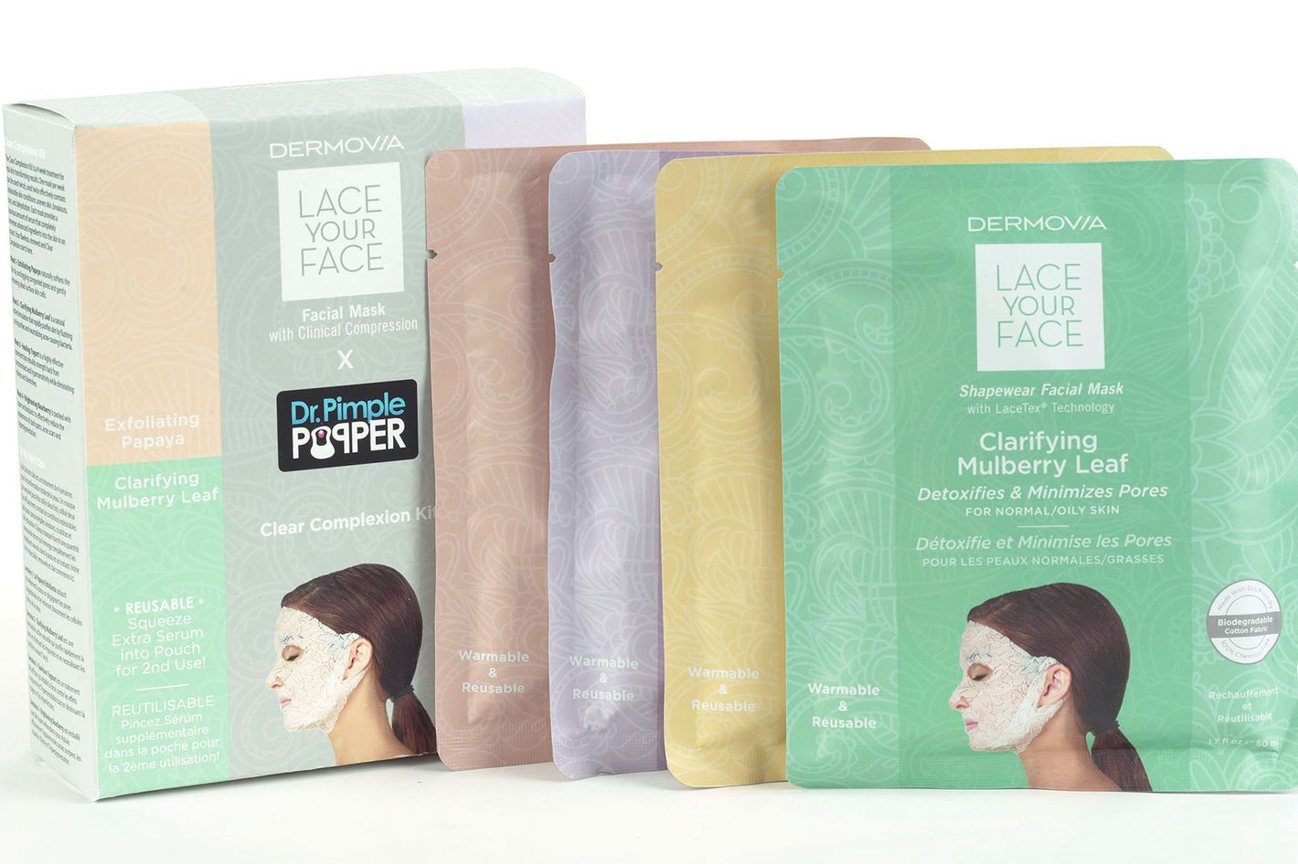 Dermovia Lace Your Face X Dr. Pimple Popper Clear Complexion Mask Set