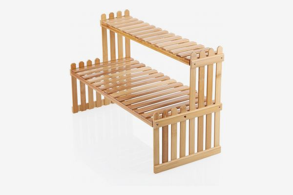 OGORI 2-Tier Bamboo Plant Stand