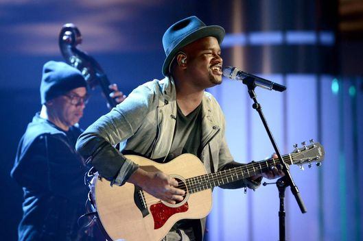 C.J. Harris performs on AMERICAN IDOL XIII airing Wednesday, March 26
