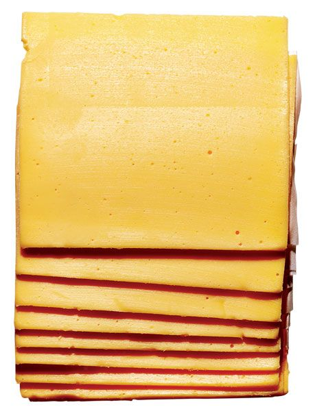 <b>American Process Cheese</b>    Blame an infatuation with burger-joint burgers for a new appreciation of preservative-riddled American process cheese. The reason: No other type melts nearly as well without exuding fat and separating. Wylie Dufresne, for one, is a fan, and Nathan Myhrvold gives a recipe in his Modernist Cuisine at Home starring the key ingredient, sodium citrate. <i>At supermarkets everywhere.</i>