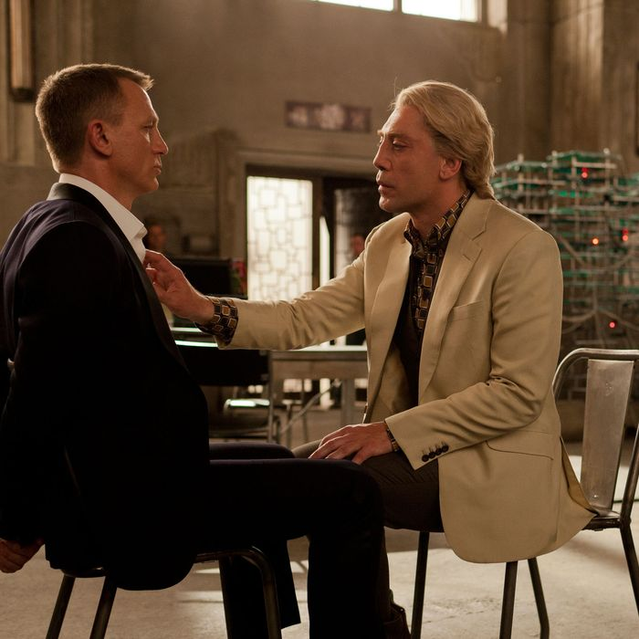 Daniel Craig (left) and Javier Bardem star in Metro-Goldwyn-Mayer Pictures/Columbia Pictures/EON Productions? action adventure SKYFALL.