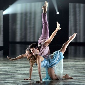 """SO YOU THINK YOU CAN DANCE: L-R: Top 4 contestant Gaby Diaz and all-star Robert Roldan perform a Contemporary routine to """"Angel"""" choreographed by Mandy Moore on the Season Finale of SO YOU THINK YOU CAN DANCE airing Monday, September 14 (8:00-10:00 PM ET live/PT tape-delayed) on FOX. ©2015 FOX Broadcasting Co. Cr: Adam Rose"""