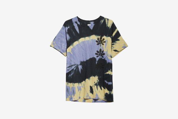 SASQUATCHFABRIX Tie Dye Crow Print Short Sleeve T-Shirt