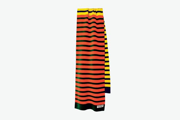 Acne Studios Color-Block Striped Scarf in Yellow Multi