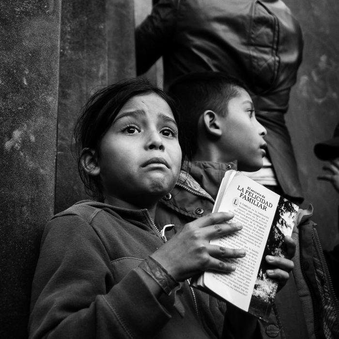 Migrant children at the U.S–Mexico border.