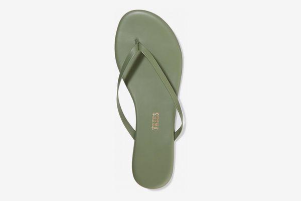 TKEES Leather Flip Flops