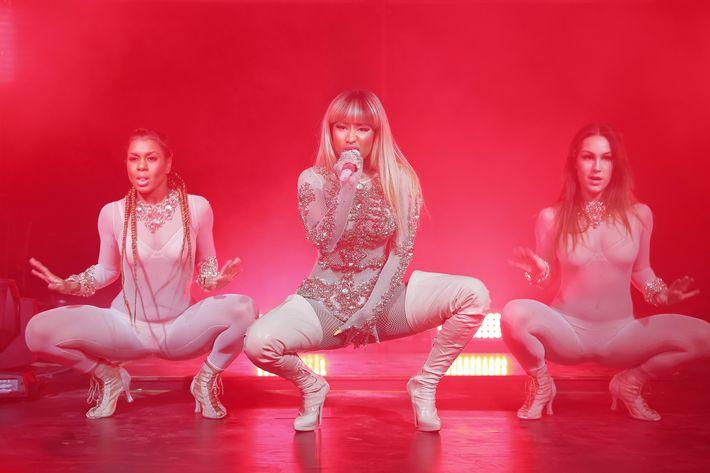 Nicki Minaj performing for Givenchy in Milan.