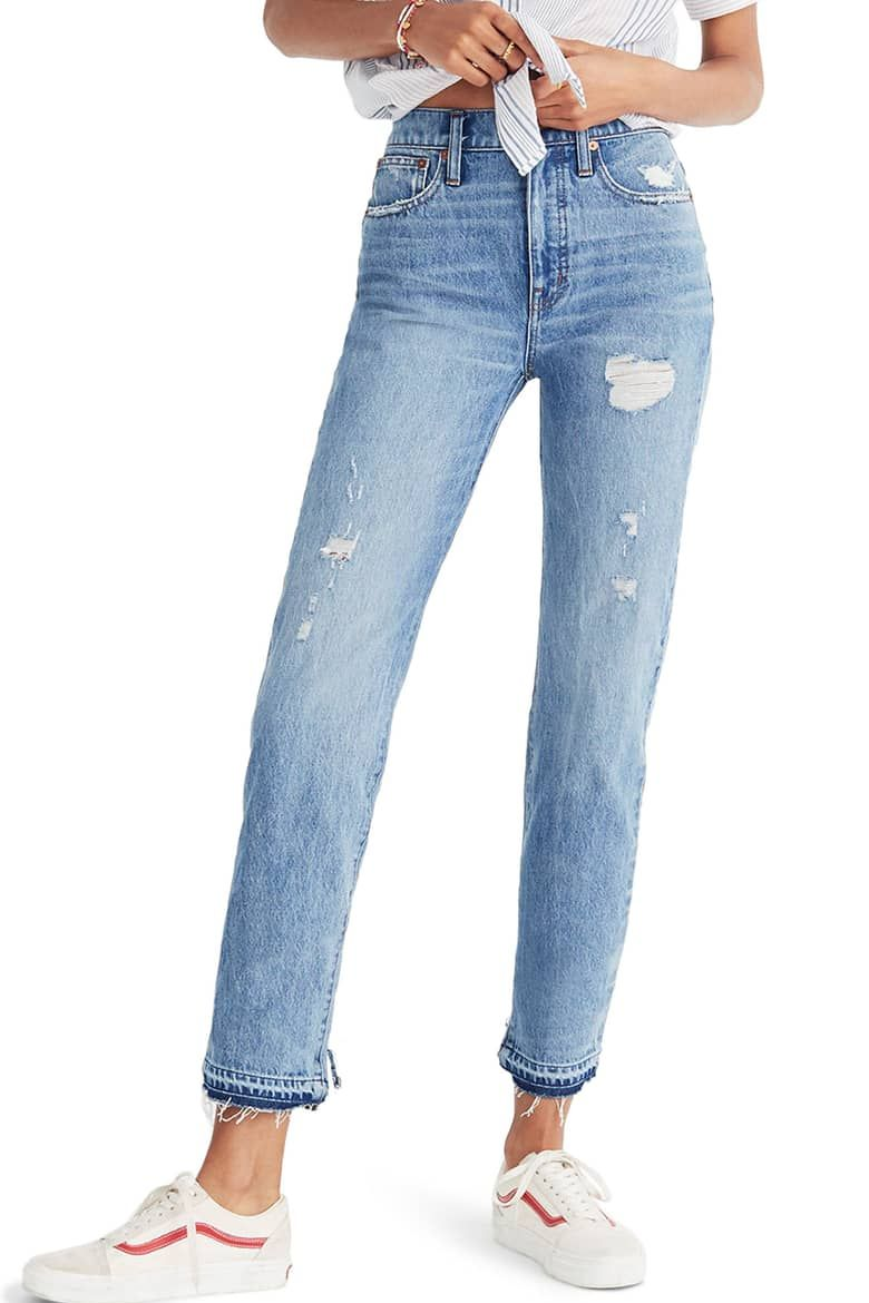 5204218949d20 Madewell Classic Distressed Straight Leg Jeans