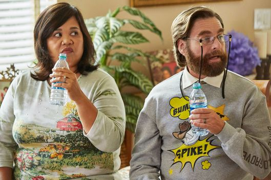 "BASKETS ""DJ Twins"" Episode 106 (Airs Thursday, February 23, 10:00 pm/ep) -- Pictured: (l-r) Ellen D. Williams as Nicole, Zach Galifiniakis as Dale Baskets. CR: Ben Cohen/FX"