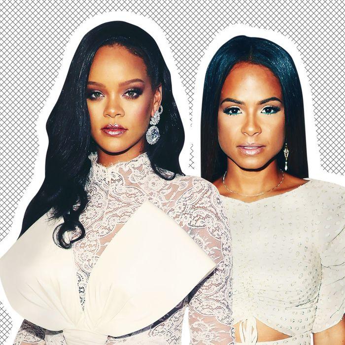 Rihanna, Christina Milian.