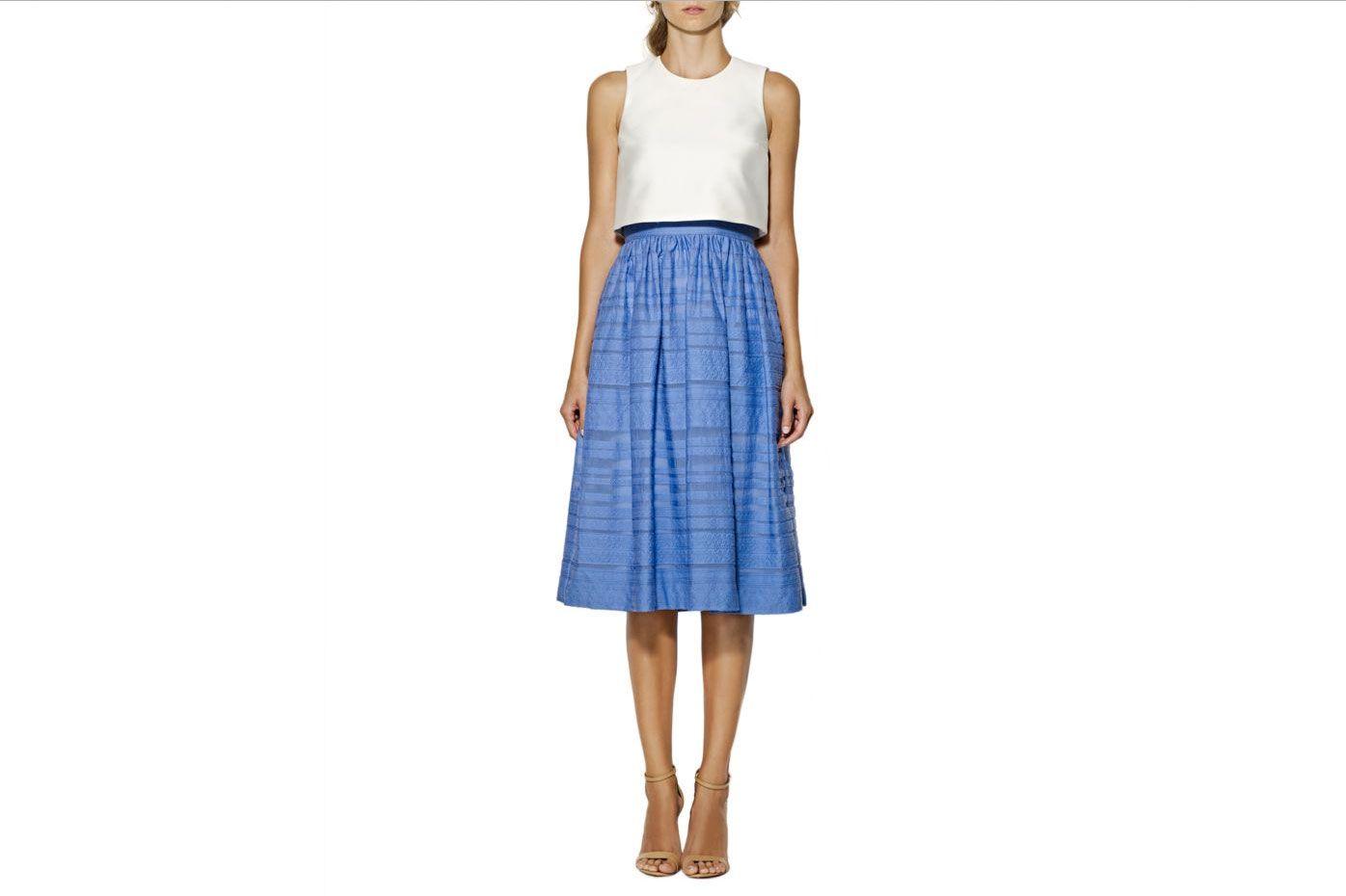 Cynthia Rowley Sleeveless Tea-Length Dress