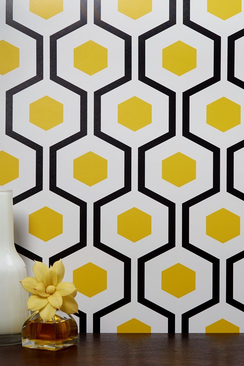 Chasing paper hexagon removable wallpaper