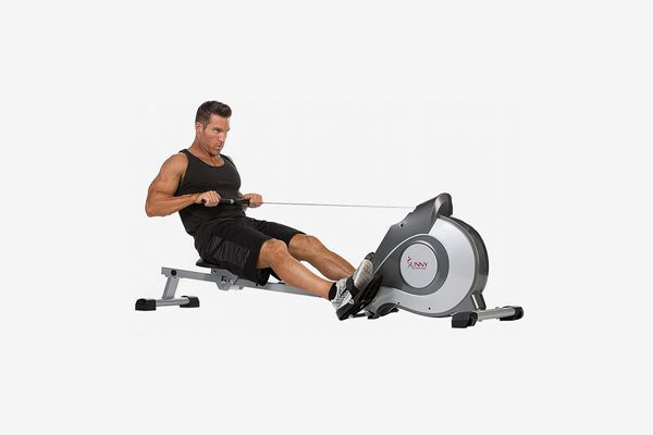 Sunny Health & Fitness Magnetic Rowing Machine With LCD Monitor