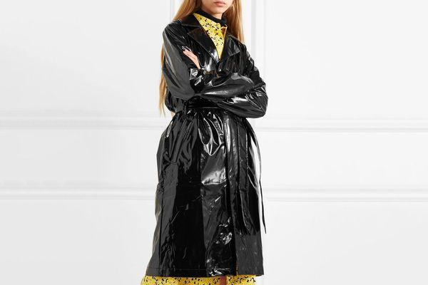 Rains Glossed-PU trench coat