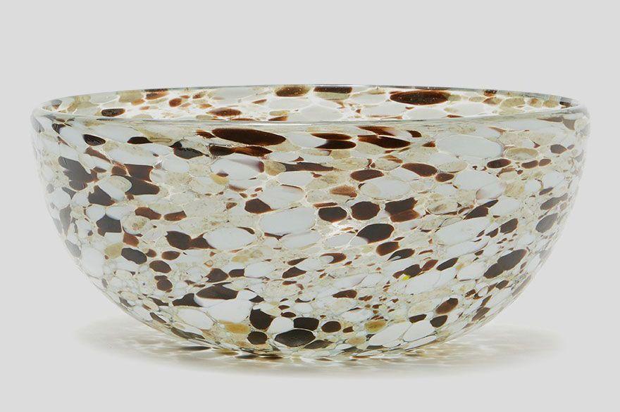 Hawkins New York Confetti Glassware Serving Bowl in Espresso