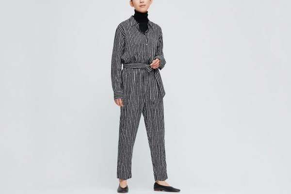 Uniqlo Women's Marimekko Rayon Long-Sleeve Jumpsuit