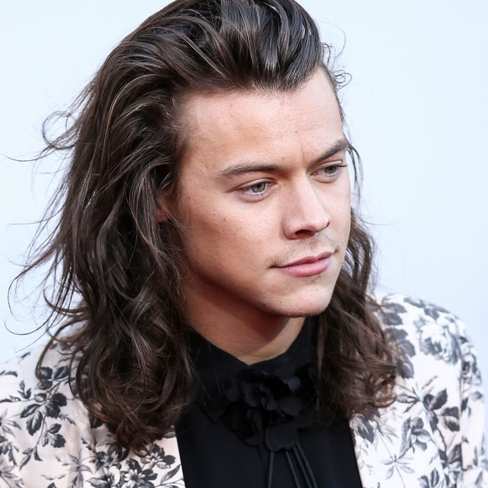 A longer-haired Harry Styles