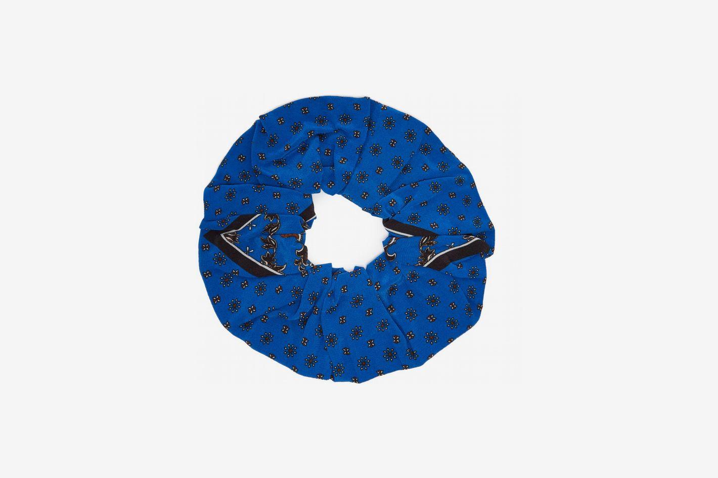 GanniPrinted silk scrunchie