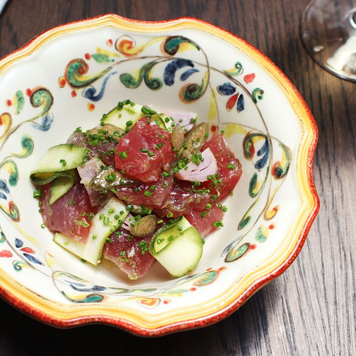 Weather like this calls for some tuna crudo (like this version, served at Sessanta).
