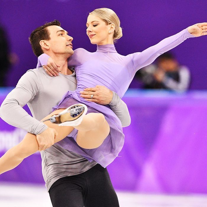 U.S. Olympic figure skaters Alexa and Chris Knierim.