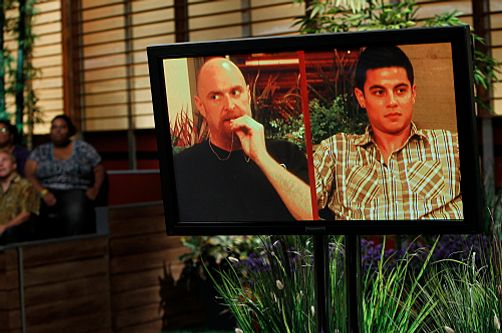 Dominic Briones of San Mateo, Calif., becomes the third Big Brother evicted Houseguest during the season's live broadcast on Thursday, July 28. Dominic was evicted by a vote of 07-01. Photo: Lisette Azar/CBS.  ? 2011 CBS Broadcasting Inc., All Rights Reserved