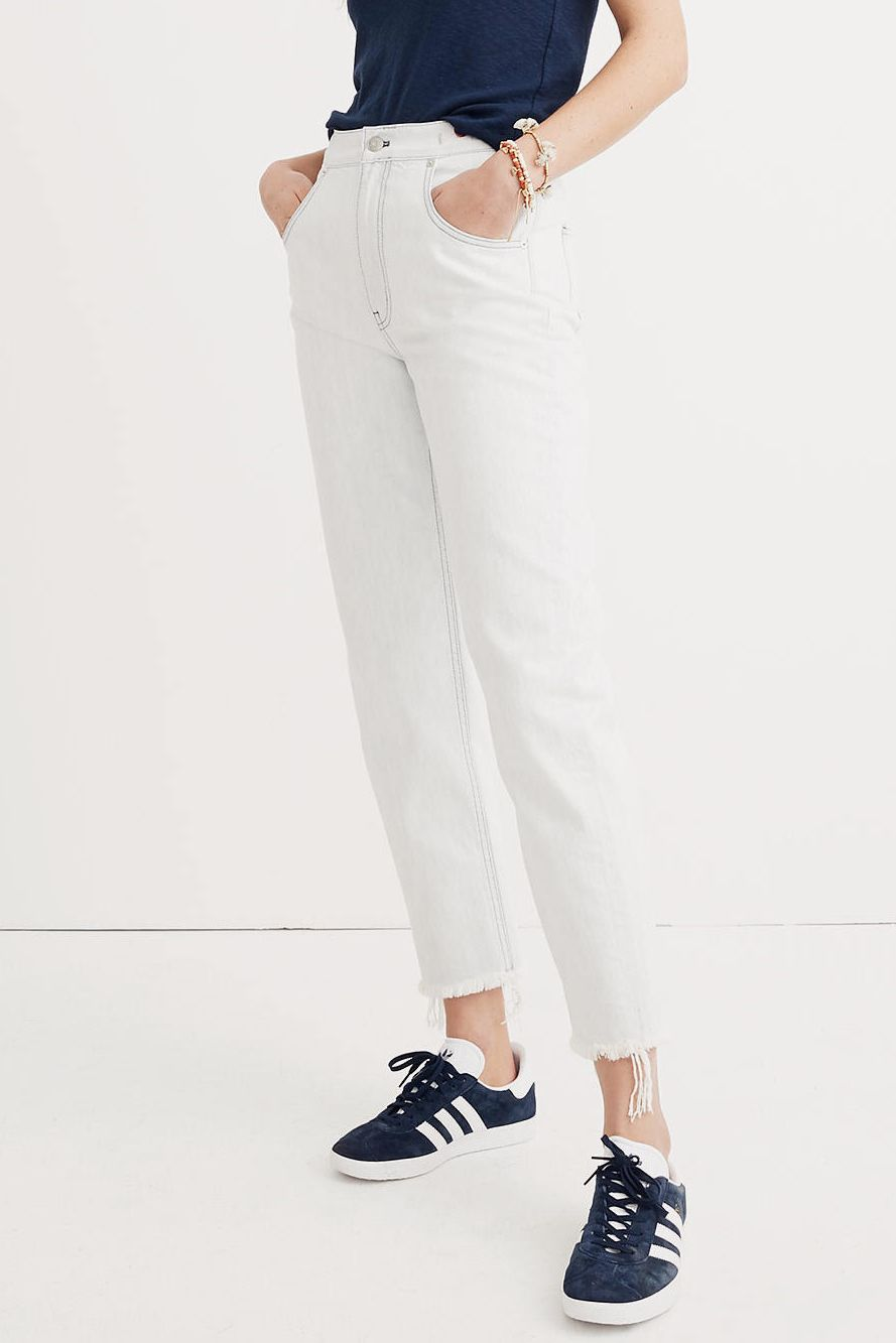 The Best White Jeans For Standing Out Year-Round photo