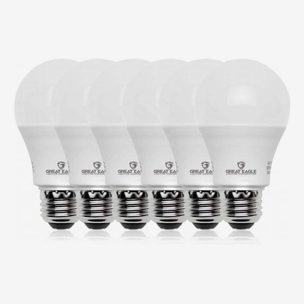 Great Eagle 100-Watt Equivalent LED Bulbs, Daylight, 6-Pack
