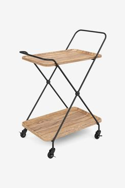 Nathan James Hallie Retro, Mid-Century Rolling Bar or Serving Cart