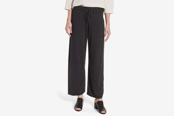 Eileen Fisher Tencel Blend Knit Wide Leg Pants