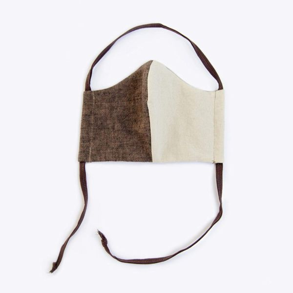 Nisolo Upcycled Linen-and-Cotton Lined Mask