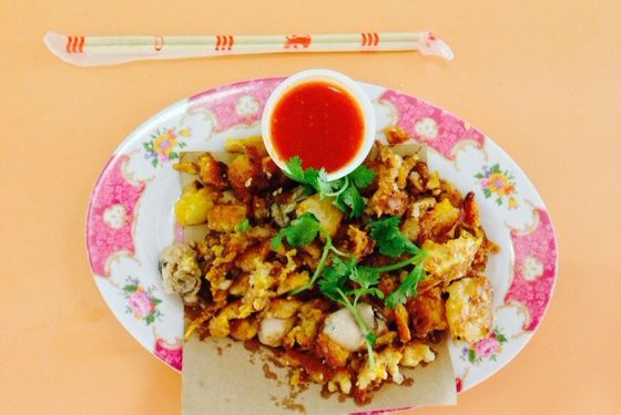 An oyster omelet from a stand at the Airport Road Food Centre.