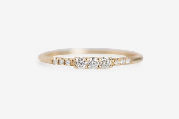 Catbird three-diamond equilibrium ring