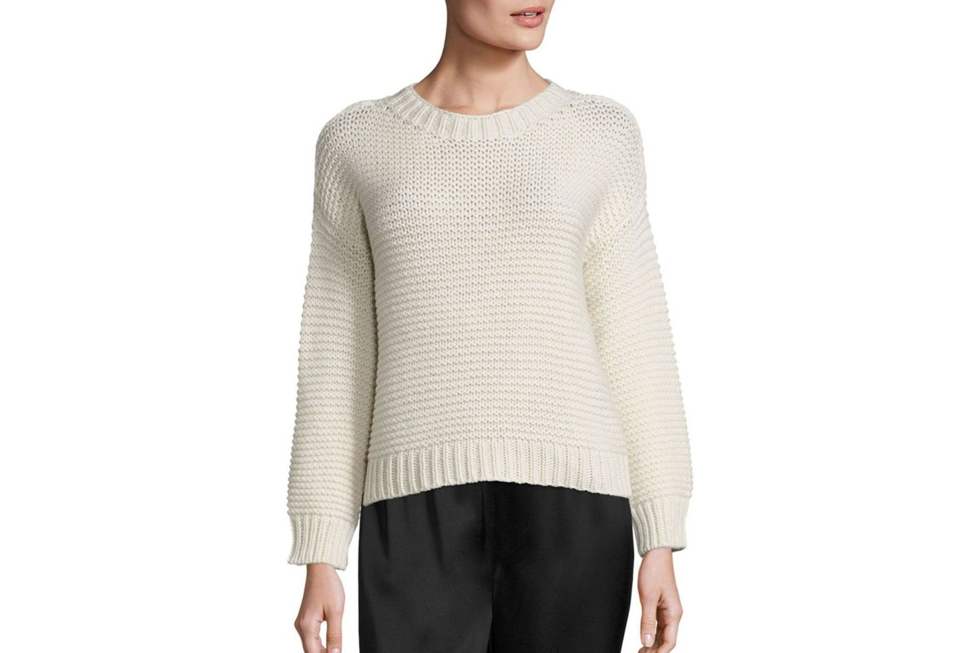 Eileen Fisher Lofty Cashmere & Merino Wool Sweater