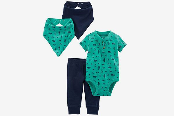 Simple Joys by Carter's Baby Boys' 4-Piece Bodysuit, Pant, and Bibs Set