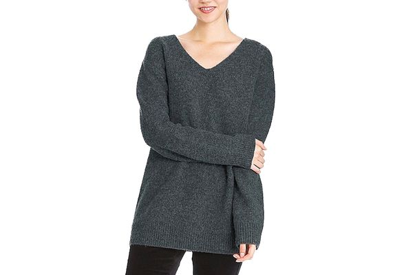 Melange Wool Tunic Sweater