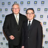 NY State Sen. Tom Duane and partner Louis Webre attend the 2012 Human Rights Campaign Gala at The Waldorf=Astoria on February 4, 2012 in New York City.