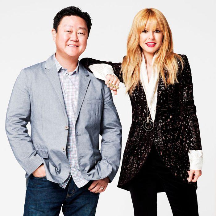 Shoedazzle CEO Brian Lee and Rachel Zoe.