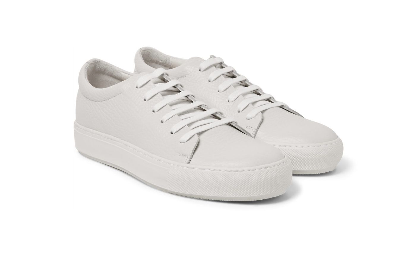 Acne Adrian Grained-Leather Sneakers