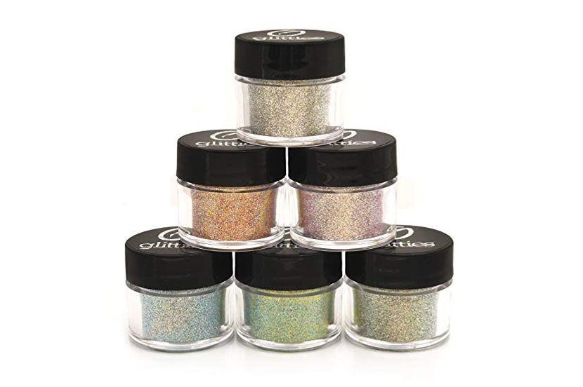 Iridescent Cosmetic Fine Mixed Glitter Powder Kit