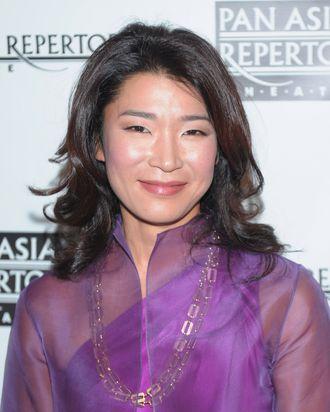 Anchorwoman Vivian Lee attends