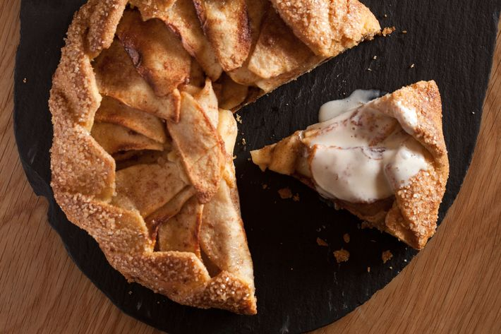 Apple crostata, housemade vanilla ice cream.