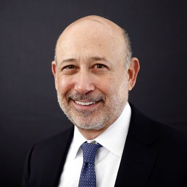 Lloyd Blankfein, chief executive officer of Goldman Sachs Group Inc., poses for a photograph following a Bloomberg Television interview on day three of the World Economic Forum (WEF) in Davos, Switzerland, on Friday, Jan. 24, 2014. World leaders, influential executives, bankers and policy makers attend the 44th annual meeting of the World Economic Forum in Davos, the five day event runs from Jan. 22-25.