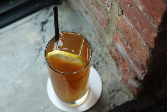 Stay All Night: Tito's vodka, Amaro CioCiaro, lemon, peach preserve, and black tea.