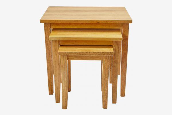 Julian Bowen Nest of Tables - Light Oak